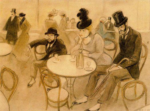 Ricardo-Opisso-Sala-Lautrec en el Cafe