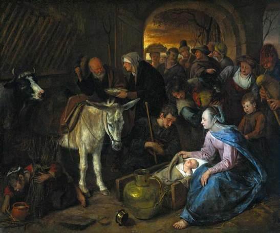 Steen Jan havicksz-De aanbidding der herders-1660.1679-Rijksmuseum Amsterdam