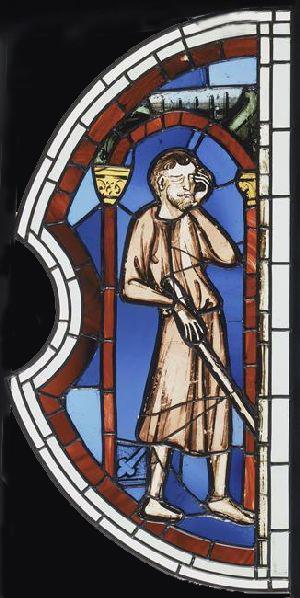 Vitrail provenant de la Sainte-Chapelle - Samson aveugle