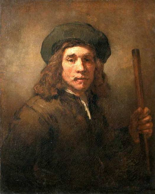 Jeune homme au bâton-Louvre-atelier Rembrandt