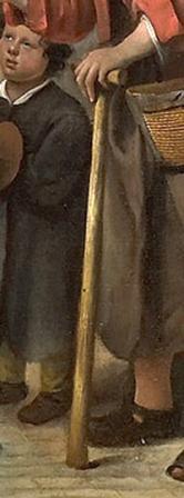 DETAIL Steen Jan havicksz-Adolf en Catharina Croeser aan de Oude Delft_ bekend als 'Een burgemeester van Delft en zijn dochter'-1655-Rijksmuseum Amsterdam