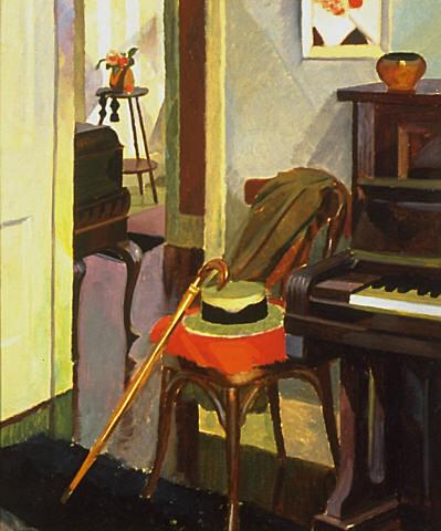 Interior-John Weeks 1930-huile sur panneau-Auckland Art Gallery Toi o Tamaki