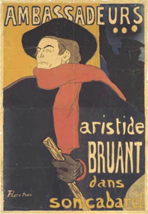Toulouse Lautrec - Aristide Bruant - Ambassadeurs 1