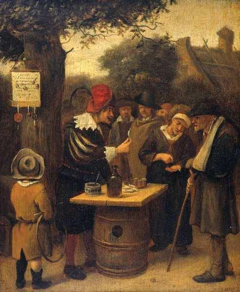 Steen Jan havicksz-De kwakzalver-1650.1679-panneau-Rijksmuseum Amsterdam