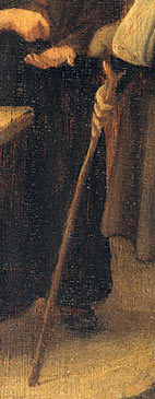 DETAIL Steen Jan havicksz-De kwakzalver-1650.1679-panneau-Rijksmuseum Amsterdam