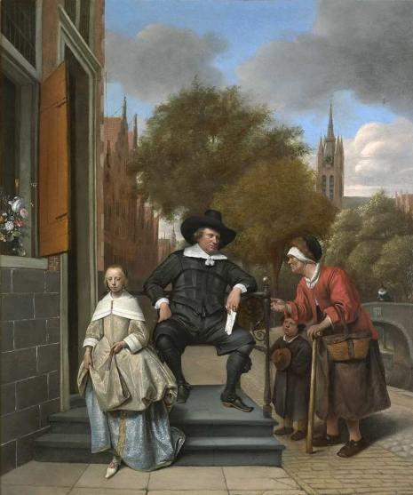 Steen Jan havicksz-Adolf en Catharina Croeser aan de Oude Delft_ bekend als 'Een burgemeester van Delft en zijn dochter'-1655-Rijksmuseum Amsterdam