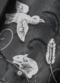 Technique du piqué 052 oiseau-souris-feuilles