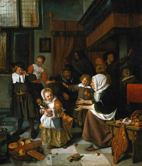 Steen Jan havicksz-Het Sint Nicolaasfeest-1665.1668-Rijksmuseum Amsterdam