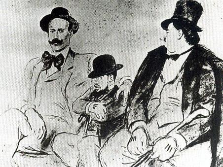 Ricardo Opisso Sala-Lautrec entre Zuloaga y Maxime Dethomas