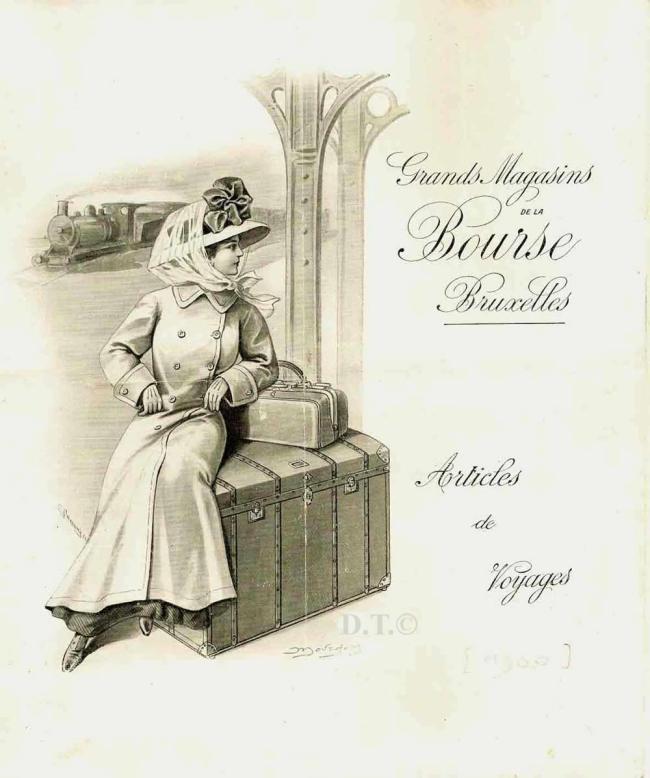 étui pour cannes- bagages-Catalogue-Grands Magasins de la Bourse-Bruxelles 1900 A