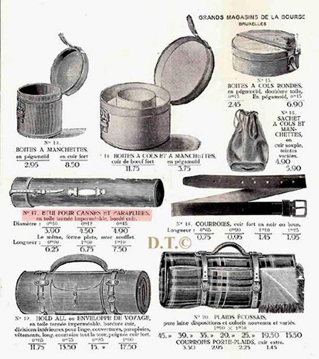 étui pour cannes et parapluies-bagages-Catalogue-Grands Magasins de la Bourse-Bruxelles 1900 b