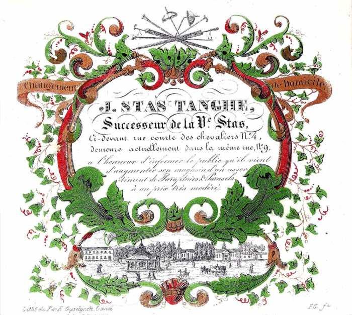 carte porcelaine-fabricant de cannes-J.Stas-Tanghe