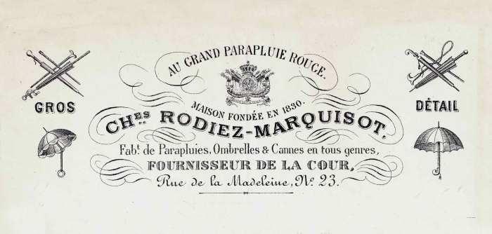 carte porcelaine-fabricant de cannes-Rodiez-Marquisot-Bruxelles