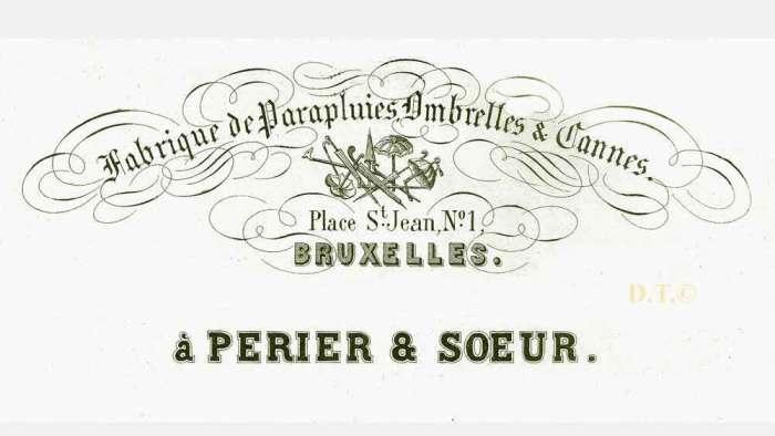 carte porcelaine-fabricant-Bruxelles.place St-Jean-Perier&soeur