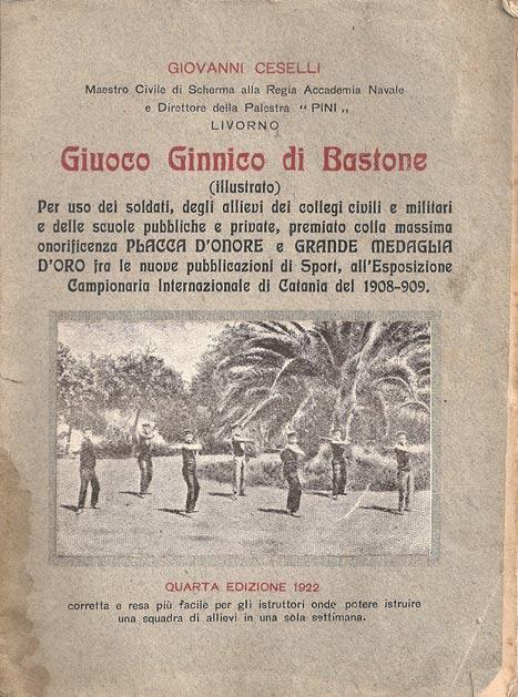 Giuoco Ginnica di Bastone-Giovanni Ceselli-1922 C