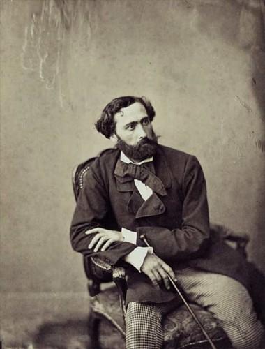 CANNES-Portrait d'homme assis avec une canne 1857-Gustave Le Gray 1820-1884.jpg