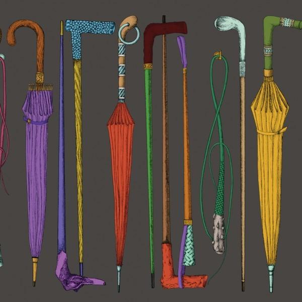 cannes,cannes de collection,papier-peint,décoration,piero fornasetti,cravache,parapluie