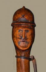WW1,1WW,guerre,14 18,1914,bâton,canne,tranchée,trench,poilu,art populaire,