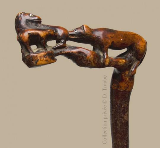WW1,1WW,guerre,14 18,1914,bâton,canne,tranchée,trench,poilu,art populaire,cheval,poulain,