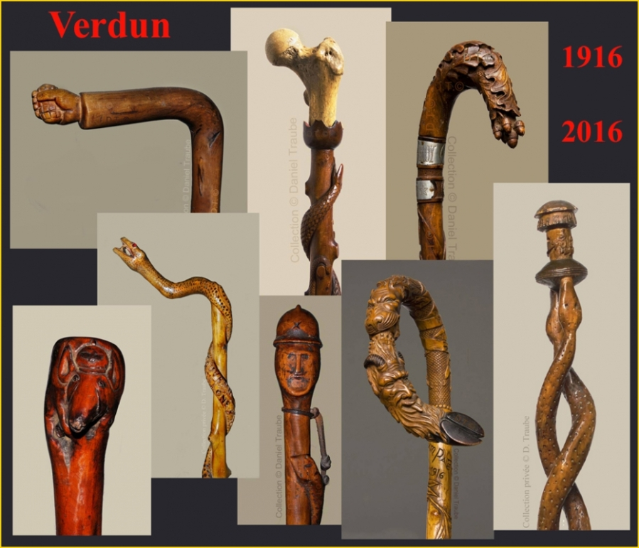 canne, cane, walking stick, stick, Poilus, guerre 14-18, Verdun, cannes de collection, souvenir, grande guerre,