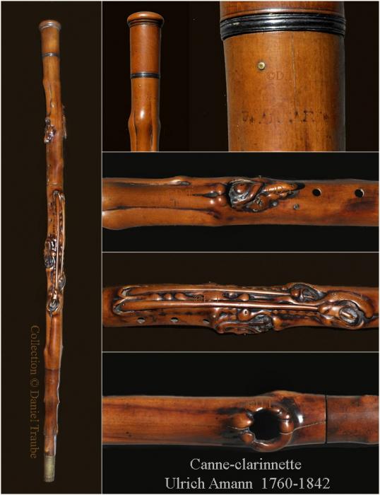 canne, cane, walking stick, système, instrument, flûte, traversière, musique, Ulrich, Amann,