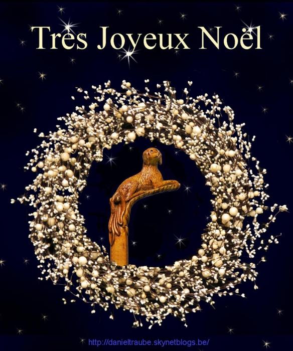 joyeux, Noël, canne, cane, walking stick, chien,