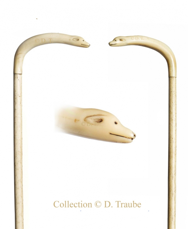 canne, cane, walking stick, marin, os, ivoire, ours, polaire, art populaire, inuit,