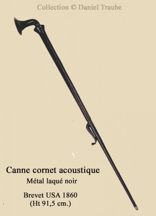 canne, cane, walking stick, système, instrument, gadget, cornet, acoustique, auddition, curiosité